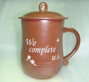 BK221 咖啡色--美人 雕刻杯