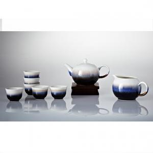 16-D3981 雪晶小圓融茶具組(一壺+六杯+茶海)
