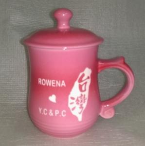 BK217  亮粉紅色 雷射雕刻台灣杯