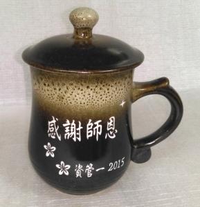 BK218 窯變鹿皮色 雷射雕刻陶瓷杯