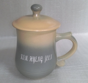 BK226 梨灰色美人杯 手工雷射雕刻杯