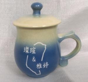 CK202  藍色圓滿 陶瓷雕刻杯