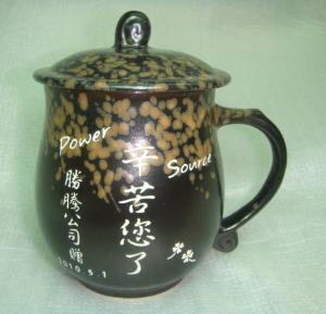 CK208 黑豆色--圓滿雕刻杯