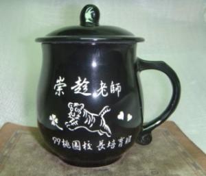 CK209  全黑色--圓滿  雕刻杯