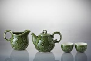 歡喜魚茶具組(一壺+六杯+茶海)