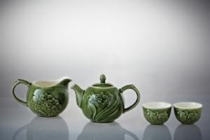 蘭花茶具組(一壺+六杯+茶海)