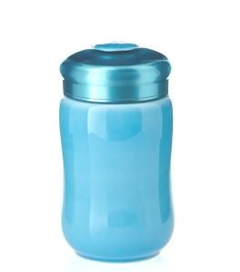 15-D1491-5  快樂杯 快樂 隨身杯 ( 藍色 / 小 /單層 / 320ml )