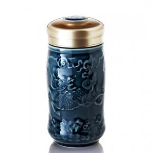 15-D1794-1 麒麟 隨身杯 ( 小 / 單層 / 礦藍 / 350 ml )
