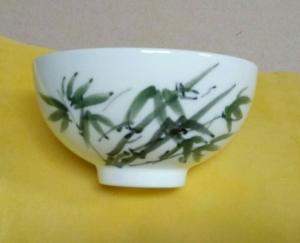 喝茶杯 PW101 手工彩繪--竹子圖 (背面可提字)