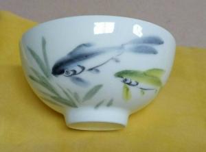 鶯歌手工彩繪杯--魚圖-PW106 (背面可提字)