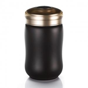 15-D1491-6  快樂杯 快樂 隨身杯 ( 黑色 / 小 /單層 / 320ml )