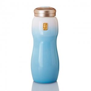 15-D3600 大喜悅水瓶 / 白淺水藍 / 大 / 單層 800ml