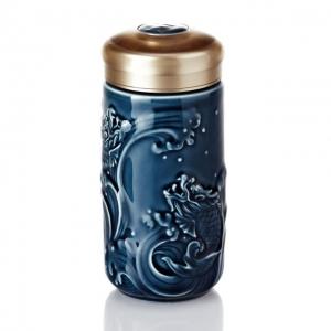 15-D1793  躍龍門隨身杯 小 /單層 / 礦藍 340 ml