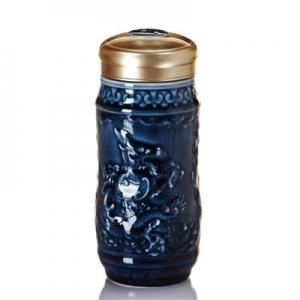 15-D2191 乾坤在握隨身杯 大 單層  礦藍 560ml