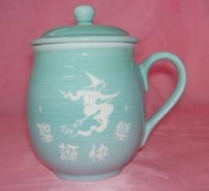 聖誕節禮物 V1017  福氣圓滿雕刻杯 巫婆圖