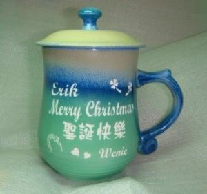 聖誕節禮物 -J1201 美人 雕刻杯