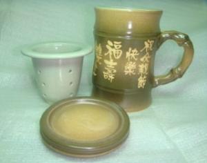 父親節禮物 V5003 手拉竹 泡茶杯 (+濾網) 父親節禮物