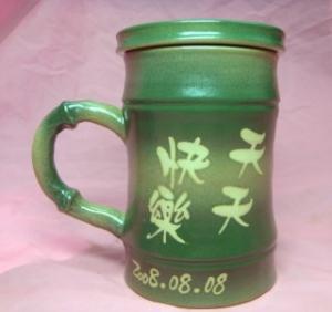 父親節禮物 V5002 手拉竹子杯 手拉胚 父親節禮物