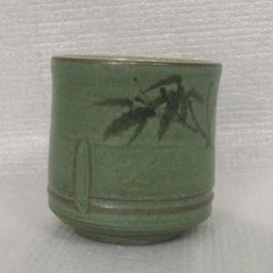 HWK180 喝茶杯 手拉竹杯+畫竹子圖 全滿約 180cc