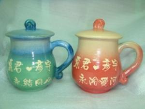 寫日本名字的杯子-結婚禮物-JH6301 結婚紀念杯 手拉對杯組