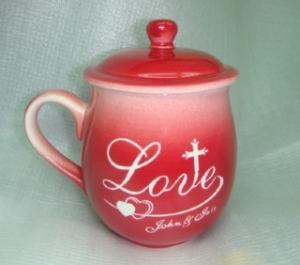 情人節禮物  V7010 鶯歌陶瓷雕刻杯 七夕情人節禮物 情人節快樂杯
