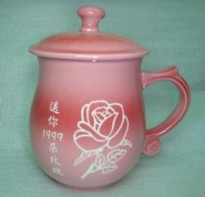 情人節禮物 V7002 鶯歌陶瓷雕刻杯 七夕情人節禮物