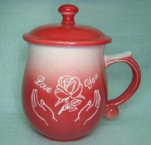 情人節禮物 V7003 鶯歌陶瓷雕刻杯 七夕情人節禮物