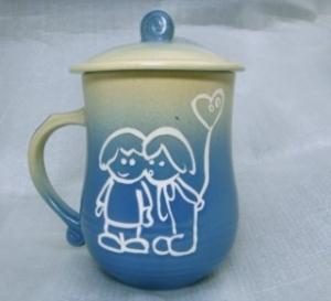 情人節禮物  V7005  美人杯鶯歌陶瓷杯 七夕情人節禮物 情人節快樂杯