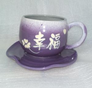 咖啡杯-手拉坏咖啡杯-HBC211 亮藍紫色